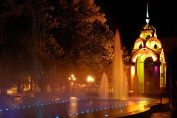 Зеркальная струя - излюбленное место видеосъемки Харьковских видеооператоров.