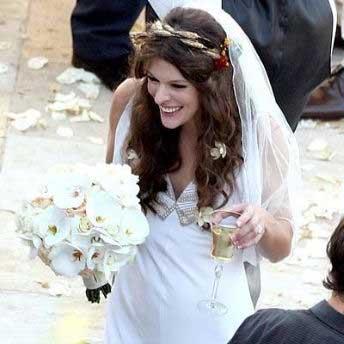 Милла Йовович на свадьбе